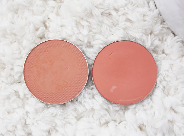 mac melba peaches blush review compare