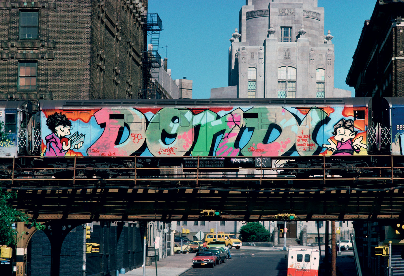 Cute  of the trains and New York City and Chalfant was creating images that tightly focused on the art the duo us work paired well when seen together