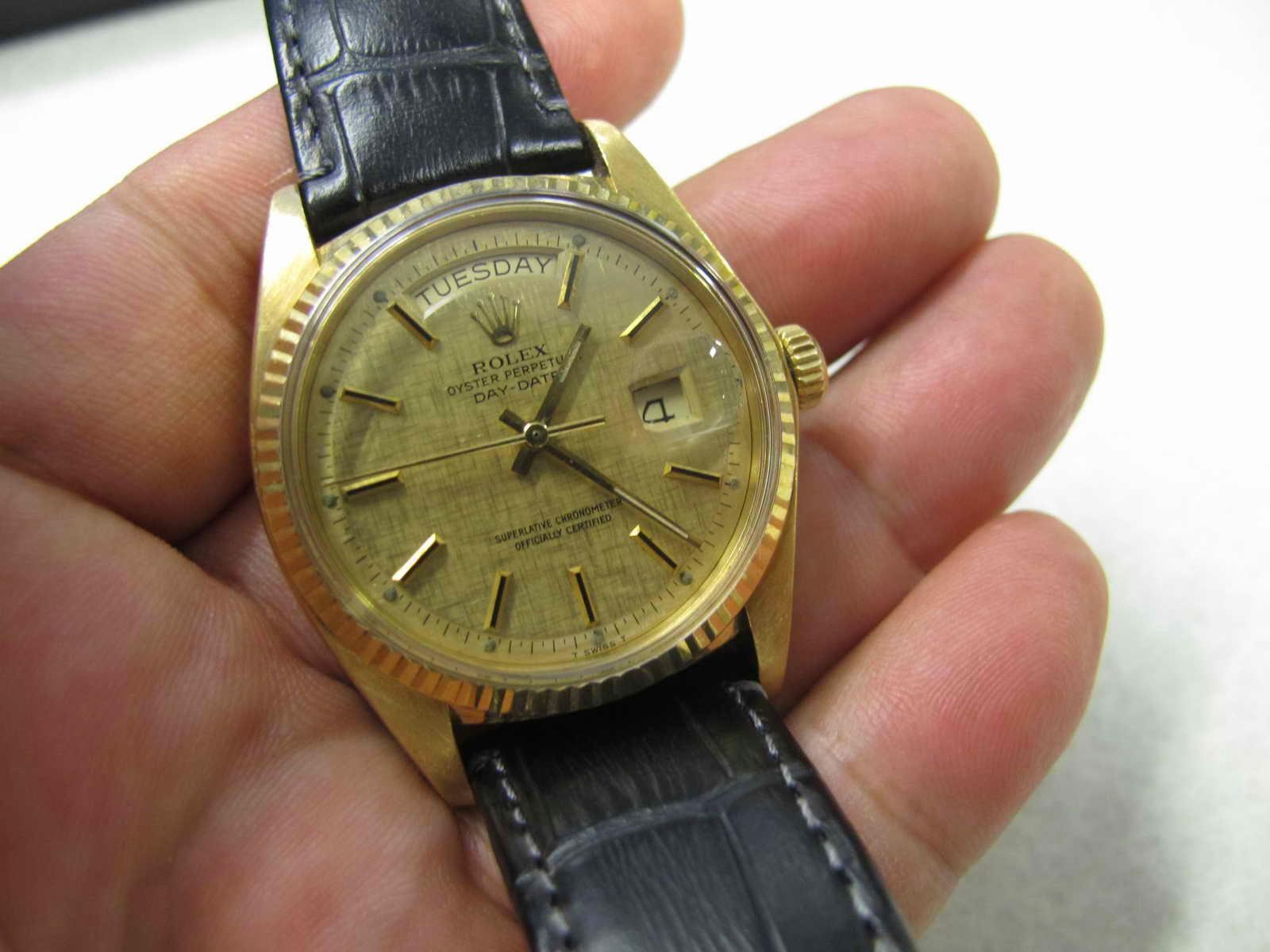 Tebal case 13 mm dan lebar lug 19 20 mm Kondisi ROLEX 1803 President ini SUPERB Cocok untuk Anda yang sedang mencari jam tangan ALL GOLD