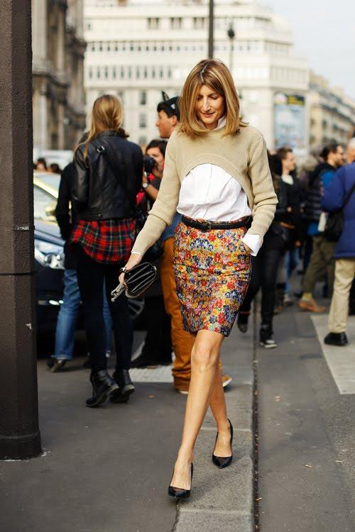 celine floral skirt