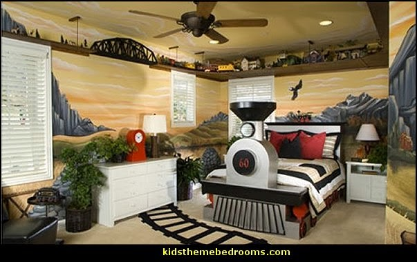 Decorating theme bedrooms maries manor train themed for Themed bedrooms for boys