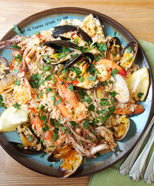 It All Tastes Greek To Me: Seafood Paella