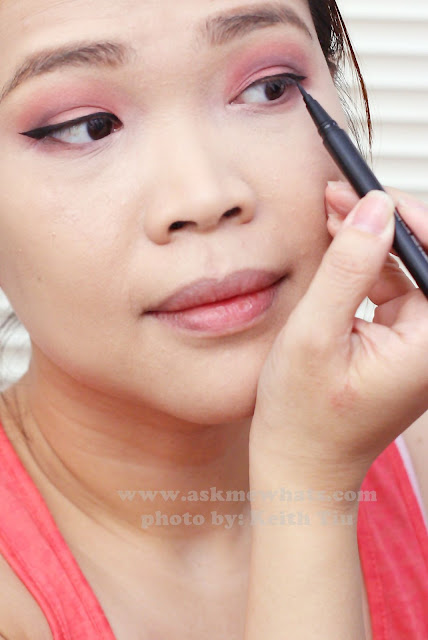 a photo of a Valentines Day Makeup tutorial using malissa kiss liquid liner