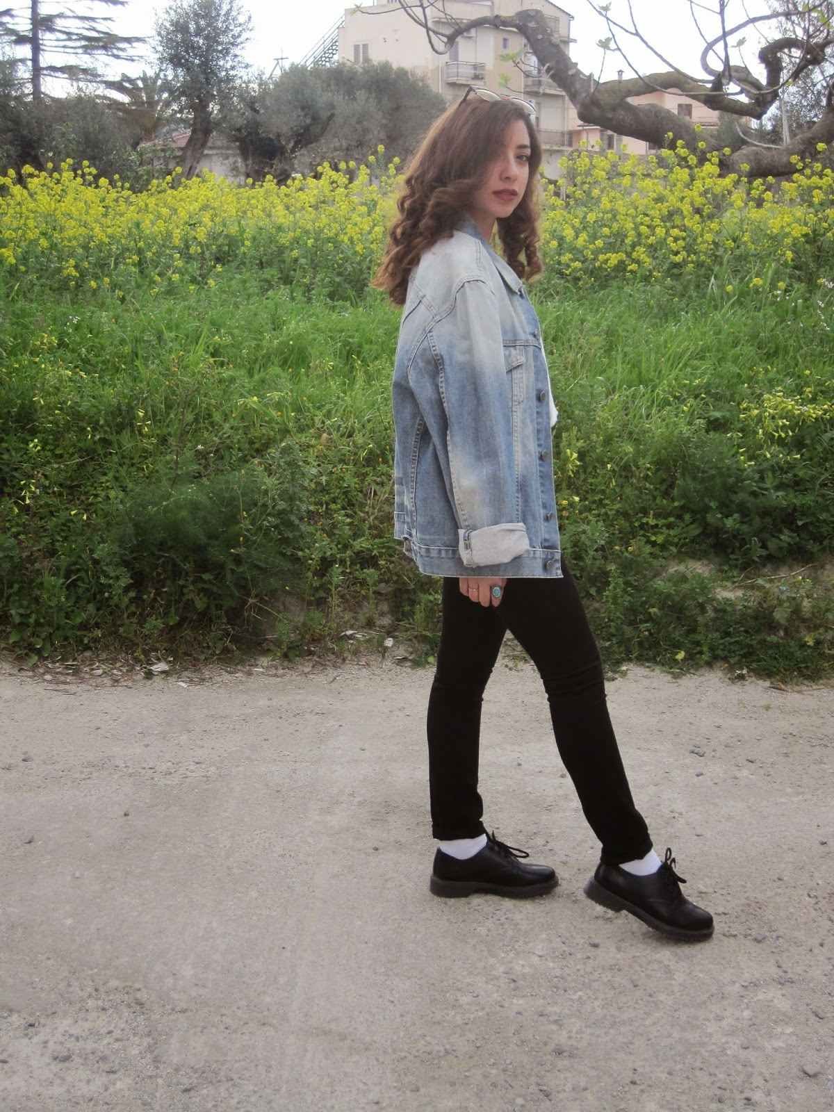 gas, denim, jacket, vintage, flowers