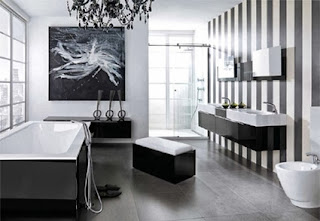 White and black for the bathroom