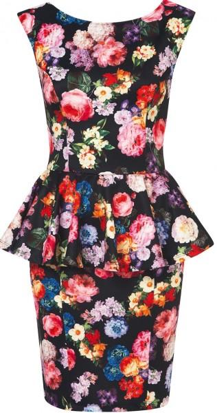 Rengarenk bayan %C3%A7i%C3%A7ekli elbise modeli 316x600 2013 Çiçekli elbise modelleri