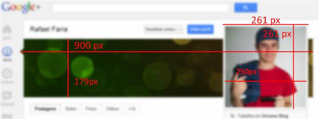 IMAGEM: Medidas para página do Google +