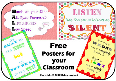 Free Printable Classroom Posters