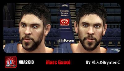 NBA 2K13 Marc Gasol Cyberface Patch