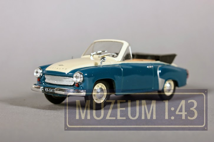 wartburg 312 cabrio 1 43 ist deagostini muzeum 1 43. Black Bedroom Furniture Sets. Home Design Ideas