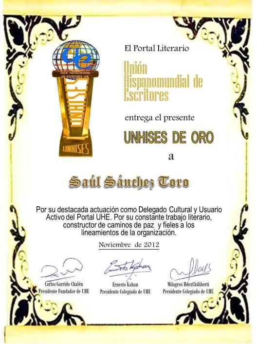 Premio UNHISES de Oro