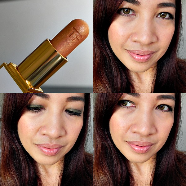 tom ford lip summer color shimmer limited edition solar gold, review, swatch