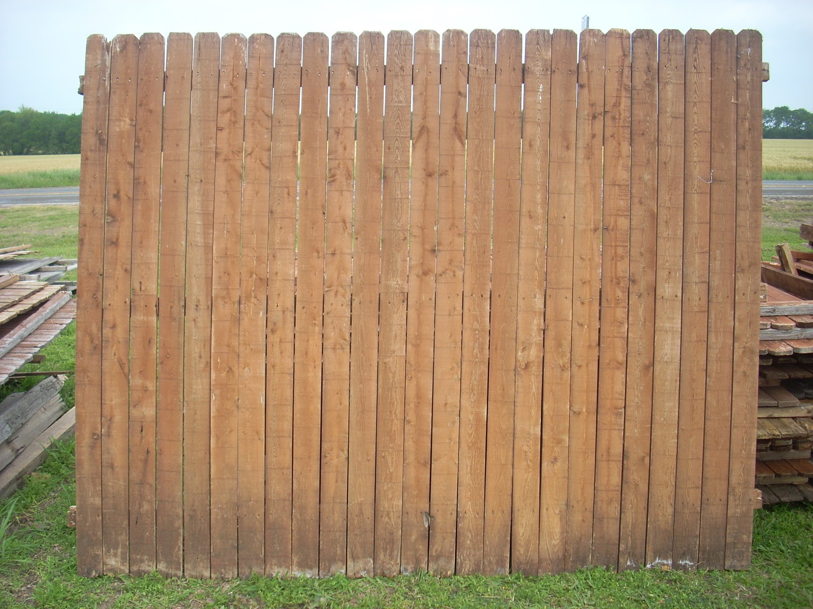Superb img of Wood Fence Panels & Pickets Wylie Texas: GONE 22 PINE fence Panels  with #3A8091 color and 1600x1200 pixels