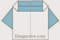 Bước 7: Hoàn thành cách xếp chiếc áo trẻ em bằng giấy theo phong cách origami.