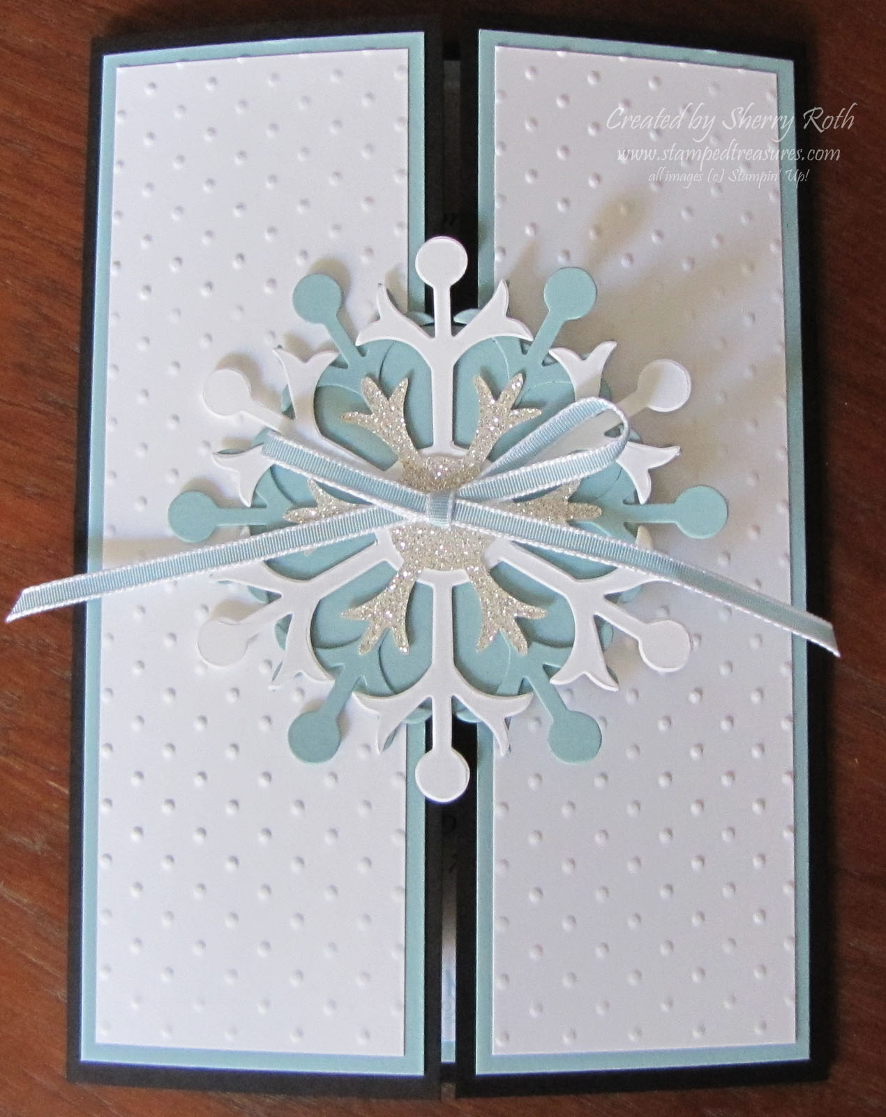 Sherrys Stamped Treasures Winter Wedding Invitations