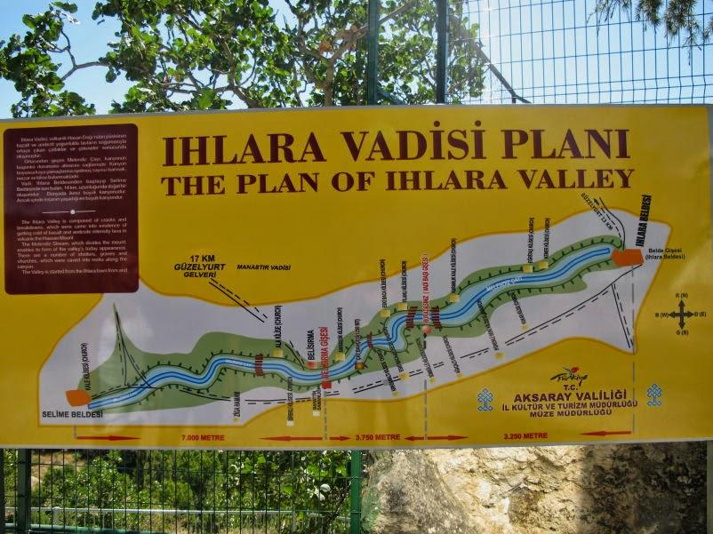 Ihlara Vadisi Haritası Planı