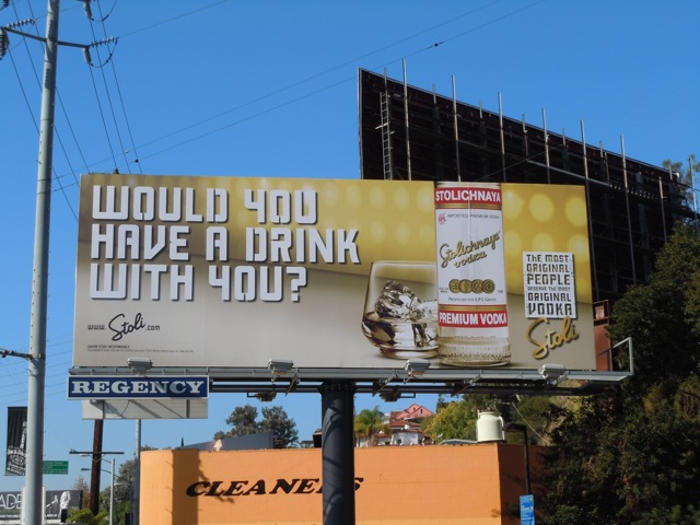 Stoli Drink with you billboard