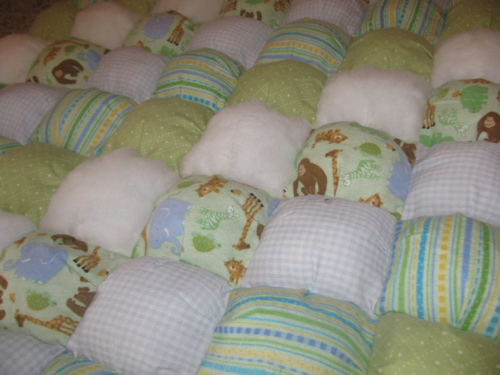 how to make a puffy quilt