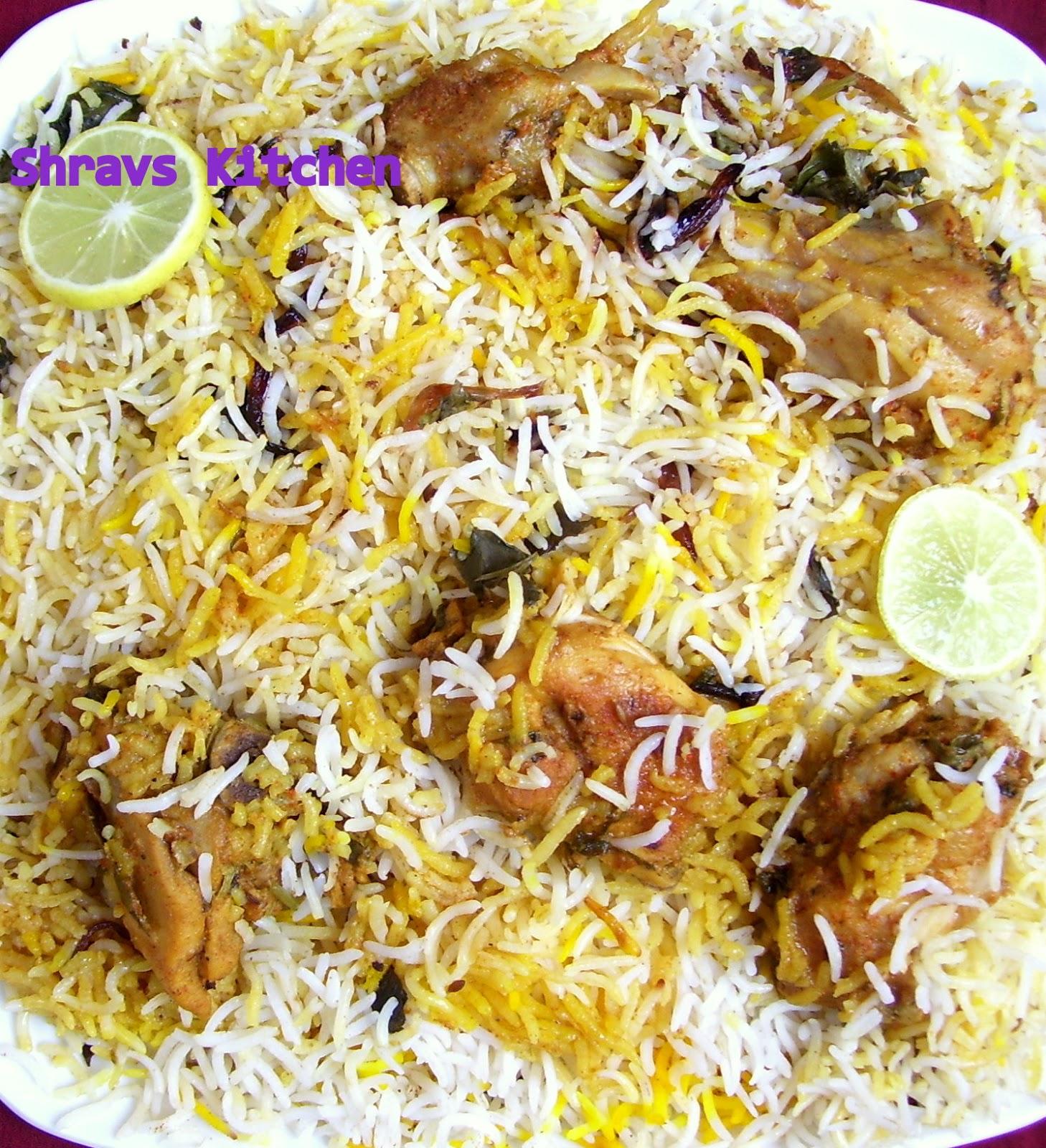 Shravs Kitch... Hyderabadi Chicken Biryani