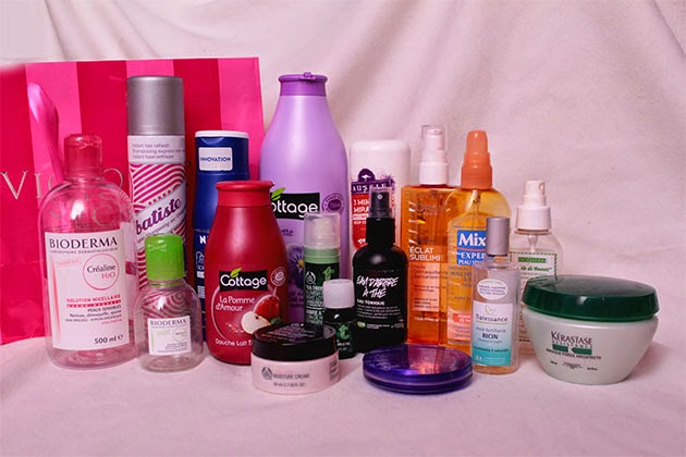 produits terminés, empty products, out, l'oréal, mixa, ricin, huile de coco, kerastase, the body shop, lush, cottage, nivea,batiste, bioderma, video, youtube, beauty, huile d'arbre à thé, tee tree, oil, aussie, urban decay,
