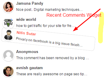 Add Cool And Stylish Recent Comments Widgets In Blogger Blog