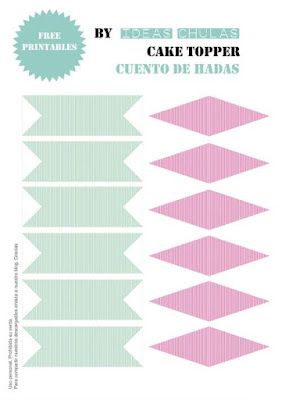 Banderines para Cake toppers