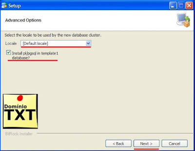 DominioTXT - Instalação PostgreSql no Windows
