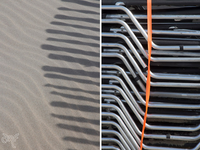 patterns on the beach