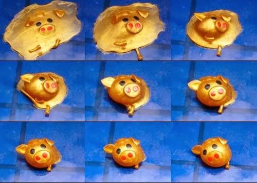 Babi emas meleleh