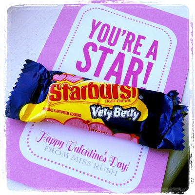 Starburst School Valentine Printable