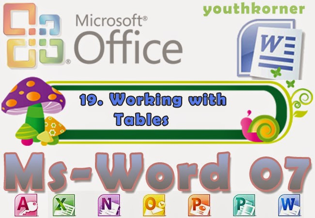 Working with Tables in Word 2007