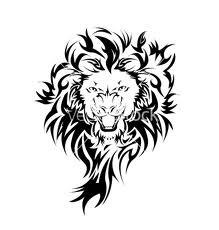 Motif Tato Singa Hitam Putih 21