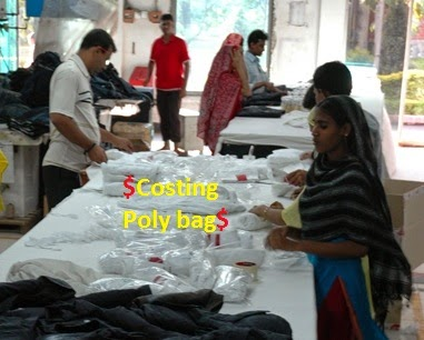 Costing of poly bag