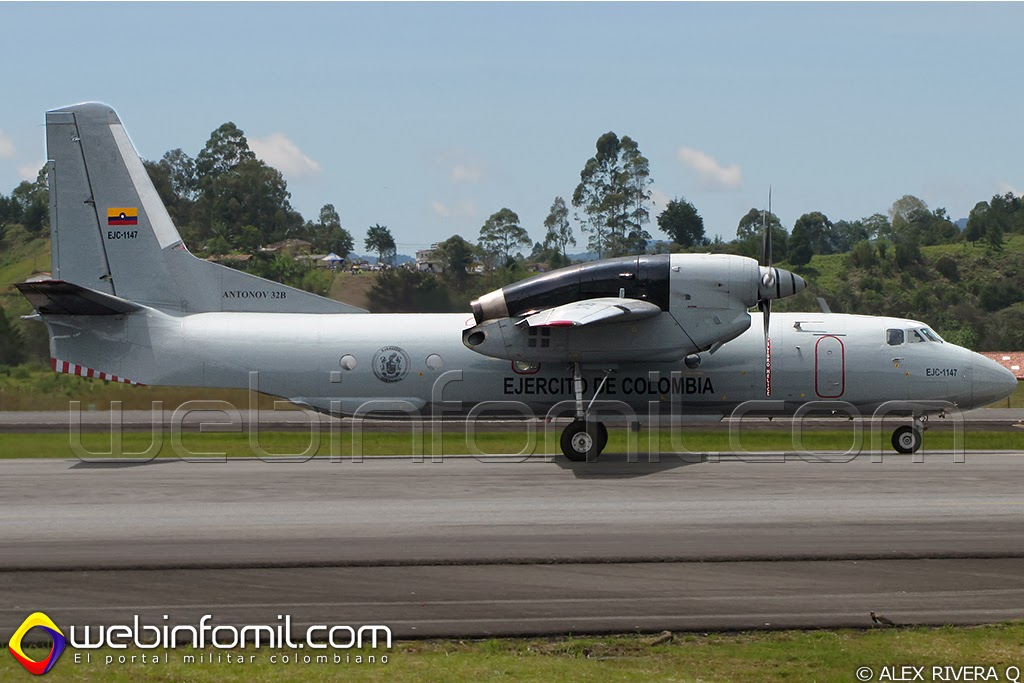 Ejercito Colombia Antonov AN-32