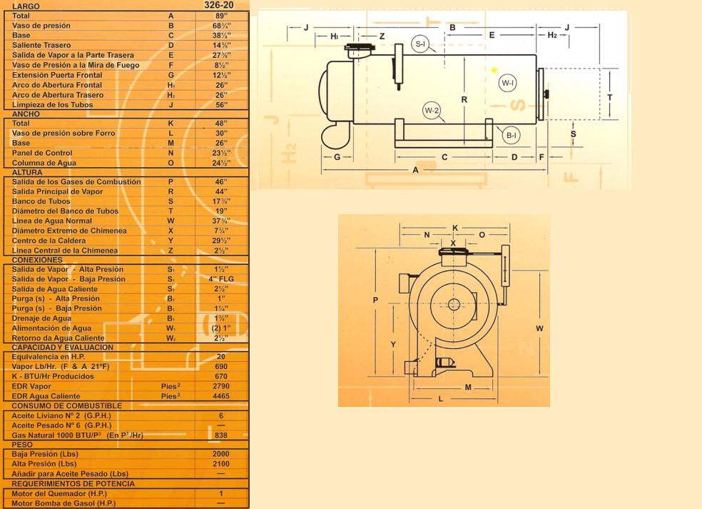 Mantenimiento 2: Diagrama EPS para una Caldera de Vapor Continental