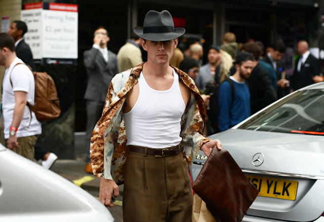 street style london collections men menswear vintage shirt tank top tommy ton
