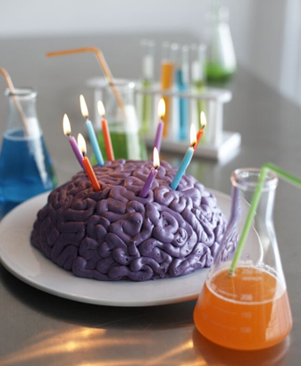 Zombie Party brain cake