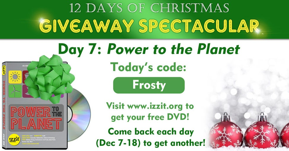 izzitorg news day 7 code for 12 days of christmas giveaway spectacular