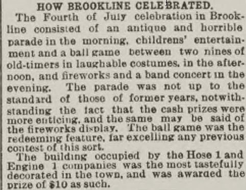 Boston Post article on 1891 parade