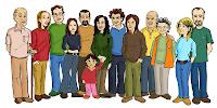 Familia extensiva para colorear - Imagui