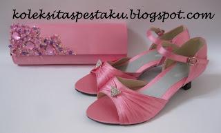 Pink Ayu dan Genit Tas Pesta Sepatu Cantik Harga Terjagkau Murah