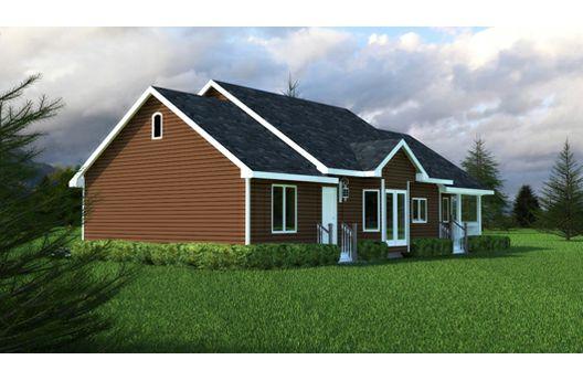 Plano de casa 130 metros cuadrados estilo caba a campestre for Planos de cabanas campestres