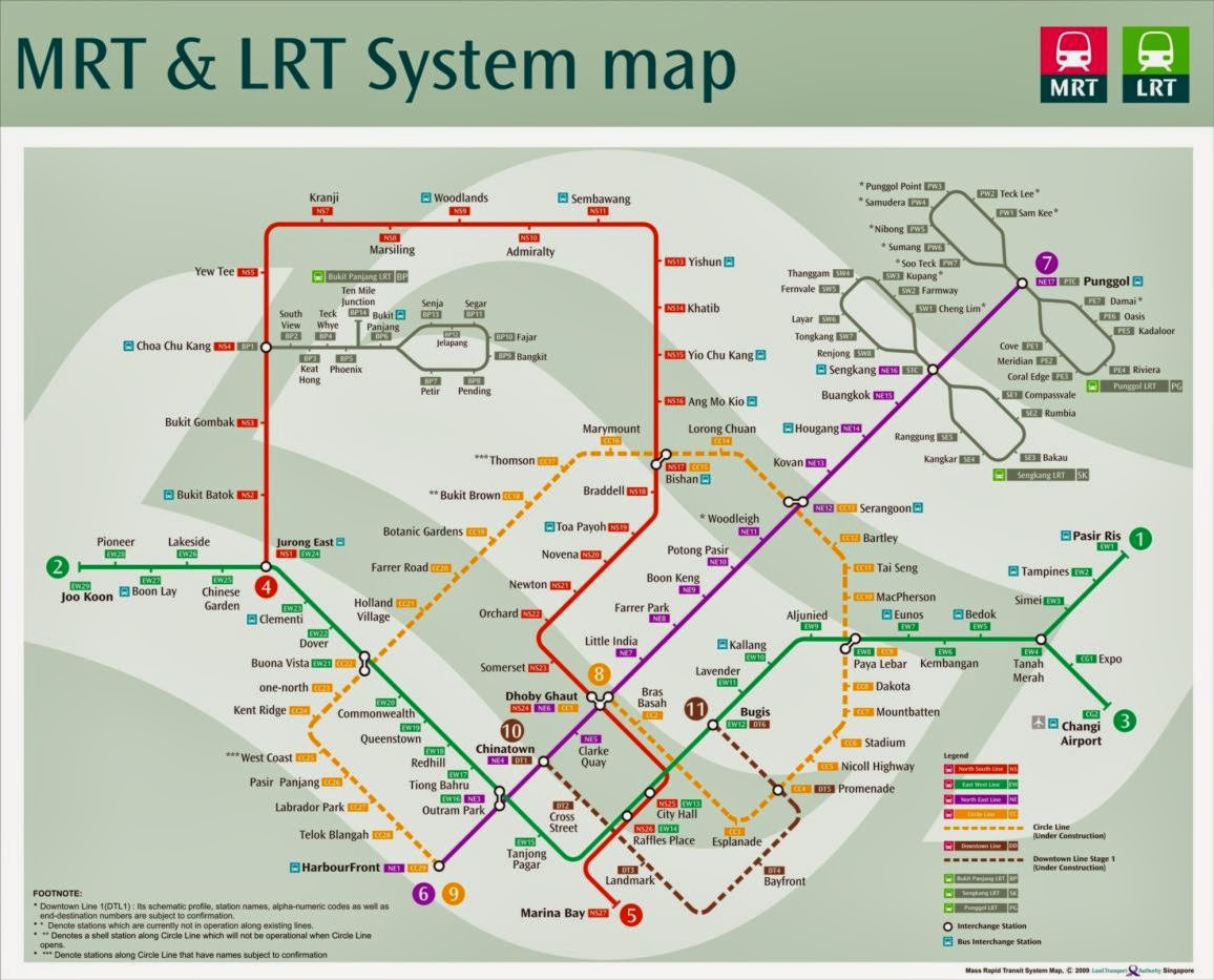 Cara Masuk Stasiun MRT Dan Peta Jalur MRT Singapore
