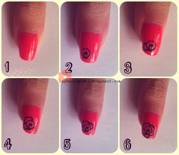 Rose Nail Art Tutorial: JayBee's Journal: Nail Art Tutorial