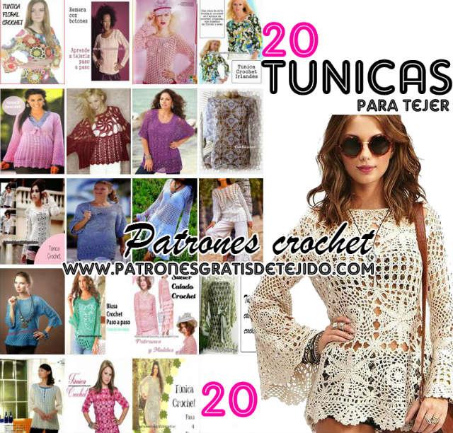 tunicas talles grandes crochet
