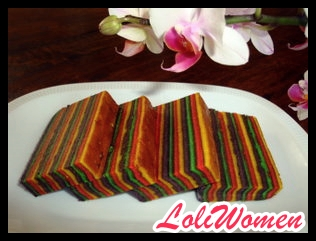 Cara Membuat Kue Lapis Warna Warni