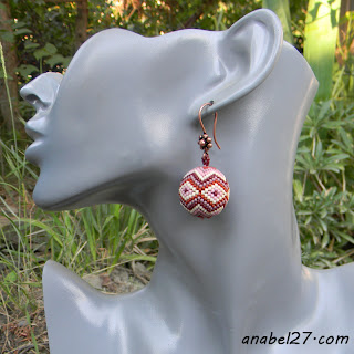 Серьги-бусины с орнаментом - украшения от Anabel