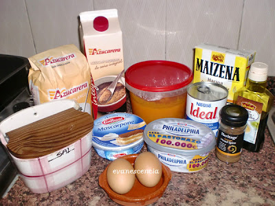 ingredientes tarta de queso y calabaza
