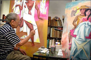 Adigio Benitez in his studio estudio