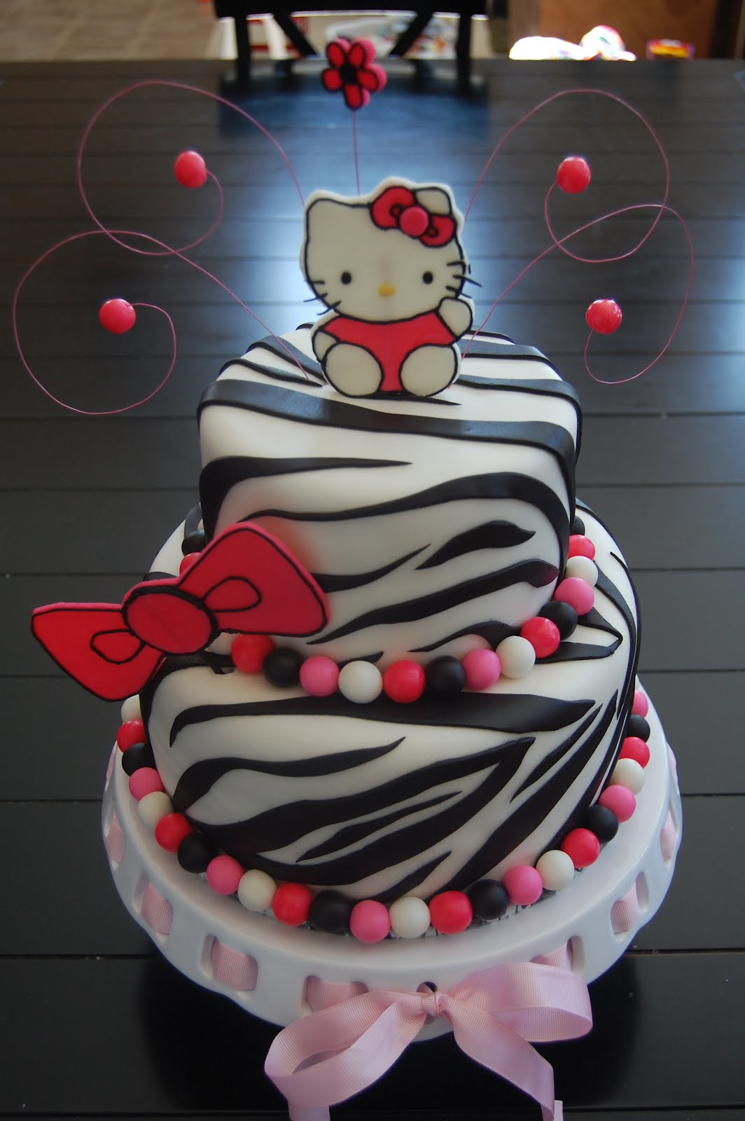 Gallery For > Hello Kitty Zebra Cupcake Cake